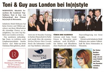 Toni & Guy bei In(n)style in Wernstein